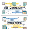 line art file management paperwork template vector image