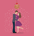 loving couple are kissing vector image vector image