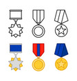 medals set awards isolated on white vector image vector image