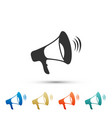 megaphone icon isolated on white background vector image