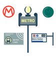metro station transportation modern railroad trip vector image vector image