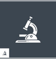 microscope related glyph icon vector image vector image