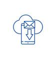 mobile letter line icon concept mobile letter vector image