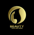 modern beauty and beautiful woman logo vector image