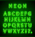neon font city neon green font eps lamp green vector image vector image