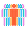 nine human sign people symbol vector image vector image