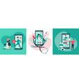 online medicine concept vector image