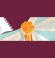 qatar propaganda poster fight and protest vector image vector image
