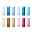 Realistic Cosmetic bottle can shampoo container vector image