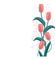 red tulip and herbs elegant card vector image vector image