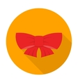 Ribbon bow icon flat vector image vector image