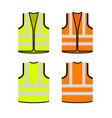 safety jacket security icon life vest vector image vector image