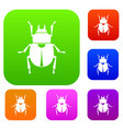 scarab set color collection vector image vector image