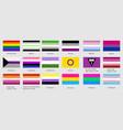 set lgbt pride flags vector image vector image
