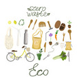 set of waste-free production icons arranged vector image