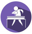 Sport icon for table tennis vector image vector image