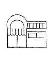 supermarket building icon vector image vector image
