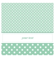 Sweet mint green card or invitation with dots vector image