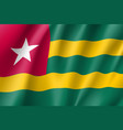 togo realistic flag vector image