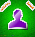 User Person Log in icon sign Symbol chic colored vector image