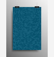 vertical poster tile honey comb blue background vector image