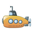 yellow submarine icon cartoon style vector image vector image