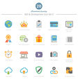 Set of Full Color SEO and Development icons Set 3 vector image