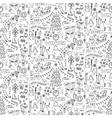 Winter hand drawn seamless pattern vector image