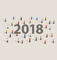 2018 new year resolution and target crowd looking vector image vector image