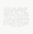 2d hand drawn alphabet letters from a to z in vector image vector image