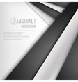 Abstract background of white and black origami vector image vector image