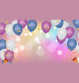 abstract background with bokeh effect and vector image vector image