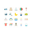 baby icon design collections with flat color style vector image vector image