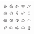 Bakery and Pastry Icons Set vector image