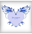 Beautiful heart for Valentines Day background vector image vector image