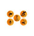 bee logo set vector image vector image