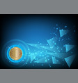 bitcoin digital currency abstract background for vector image