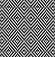 Black and white striped diamonds split vector image vector image