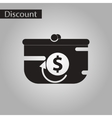 black and white style icon purse discount vector image
