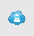 Blue cloud offender icon vector image
