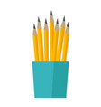 bunch of pencils in a cup vector image