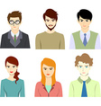Business people avatar set vector image vector image