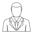 Businessman avatar icon outline style vector image vector image