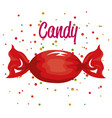 candy and confetti icon design vector image