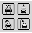 Car Shower Flat Squared Icon vector image