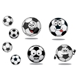 Cartoon soccer or football balls vector image vector image