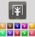 child swinging icon sign Set with eleven colored vector image vector image