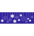 Christmas Hanging Snowflake vector image