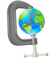 clamp cracking globe concept vector image