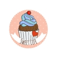 Colorful Muffins Background Cakes Sweets vector image
